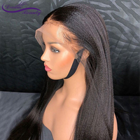 Pre Plucked 13X4 Lace Front Human Hair Wigs With Baby Hair Brazilian Non Remy Hair Italian Light Yaki Straight Wigs Dream Beauty