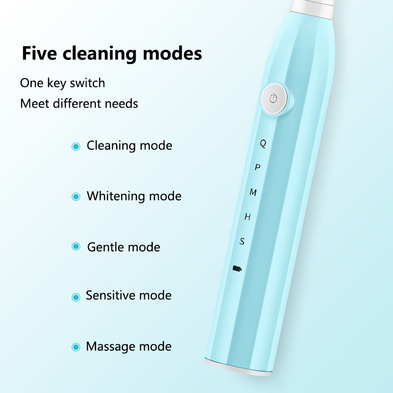 Autocure 2020 Fashion Electric Toothbrush Five-Speed Adult Home Wireless Induction Charging Gift Box Sonic Electric Toothbrush