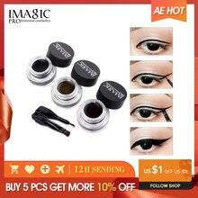 IMAGIC Eyeliner Waterproof Eyeliner Gel Makeup Cosmetic Gel Eye Liner With Brush 24 Hours Long lasting  Eye Liner Kit