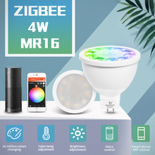 Couleur intelligente de projecteur de lampoule DC12V LED RGBCCT de la commande vocale RGBW 4W MR16 de ZigBee à la maison intelligente et travail de LED intelligent blanc avec lécho Plus le Hub