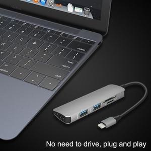 Image 5 - USB C HUB HUB To HDMI USB 3.0 SD/TF Card Reader Adapter for Mac Book Pro Accessories USB C Type C  Splitter 2 Port USB HUB