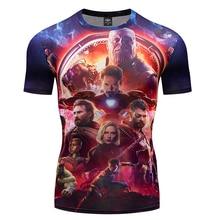 2019 Avengers 3 Infinity War 3D Compression Short Sleeve T Shirt Men New Fashion Summer T-Shirt Funny Fitness Shirts