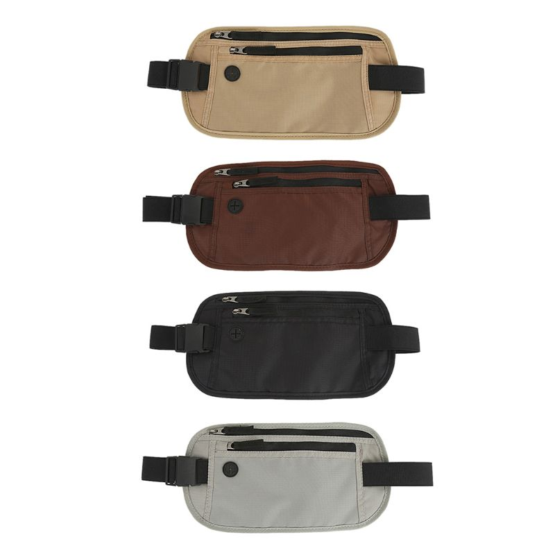 Fashion Oxford RFID Blocking Slim Waist Unisex Fanny Pack Belt Phone Pouch Travel Hip Purse