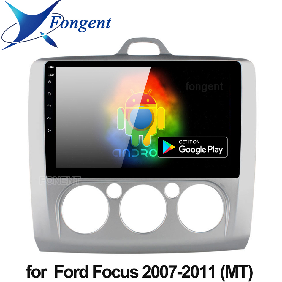 9 Inch Android 9.0 Car Radio For Ford Focus EXI MT 2 3 Mk2 2004 2005 2006 2007 2008 2009-2011 2Din GPS Multimedia Player