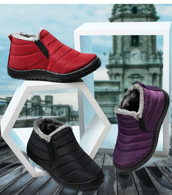 2019 Fashion Men Boots Winter Snow Boots Outdoor Winter Shoes Men Sneakers Plus Size Military Boots Waterproof Shoes Work Shoes 21