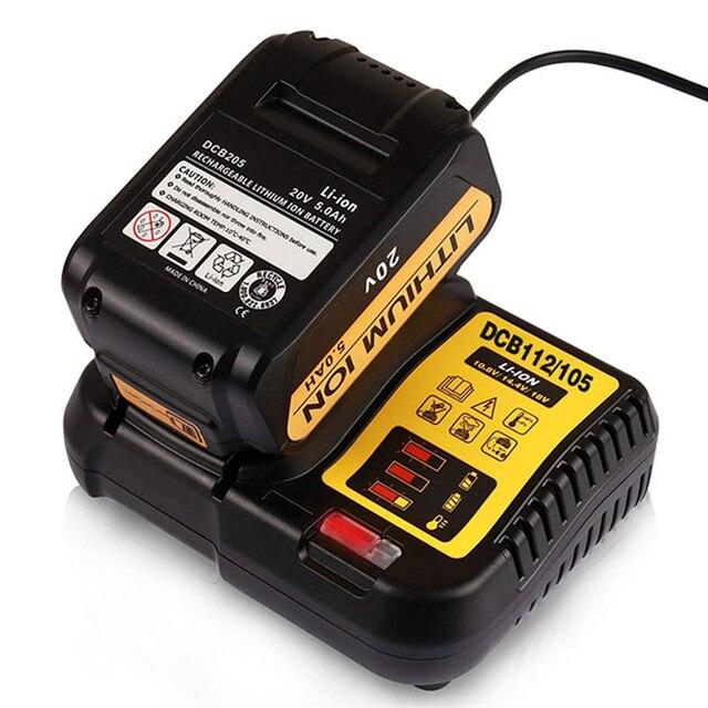 DCB112 wymienna ładowarka litowo jonowa do ładowarki Dewalt 12 V 14.4V 18V ogniwa baterii litowej
