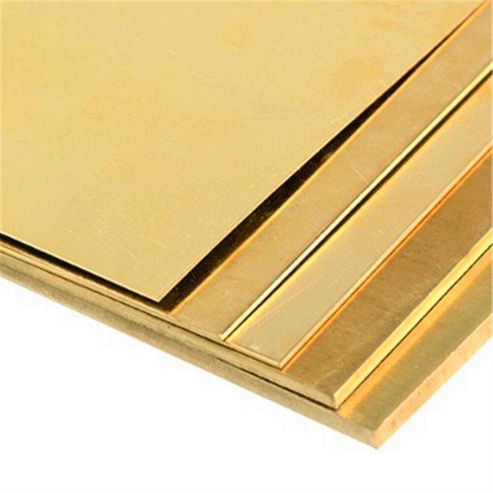 Brass Strip Copper Sheet Foil Metal Thin Plate Latten 100mm X 100mm X 1mm 1.5mm 2mm 3mm 4mm 5mm Thick