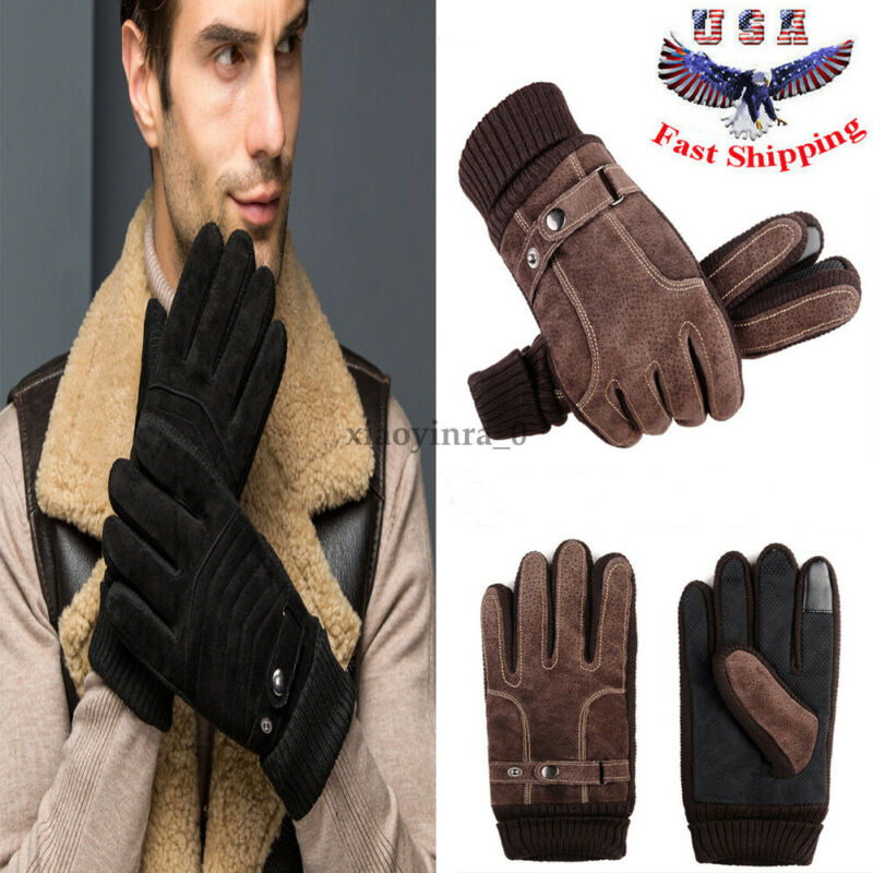 Men Winter Fleece Thermal Warm Bicycle Snow Ski Gloves Breathable Bike Cycling Riding Gloves For Women & Men Skiing Motorcycle