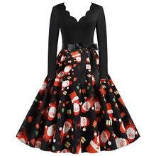 Рождественское платье для девочек Новая женская зимняя одежда