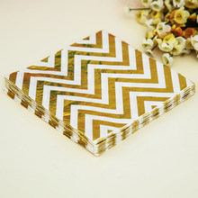 20Pcs/Lot Silver Disposable Paper Towel Napkins For Birthday Wedding Party Christmas Festival Supplies Gold Foil Dot 33*33Cm(China)