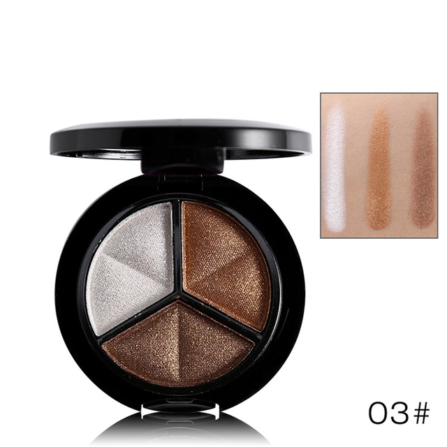 3 Colors Women Eye Shadow Palette Smokey Matte Shadow Palette Waterproof Glitter Eyeshadow Makeup Cosmetics Tools Eyeshadow 2
