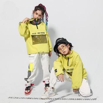 Fashion Jazz Dance Costume Kids Street Dance Hiphop Performance Clothing Children Practice Dancing Wear Sport Clothes DC4365