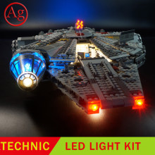 Compatible Legoed milenniuled 75105 Falcon Space Ship 05007 10467 Kit de luces LED bloque de construcción (no incluye el conjunto de bloques)(China)