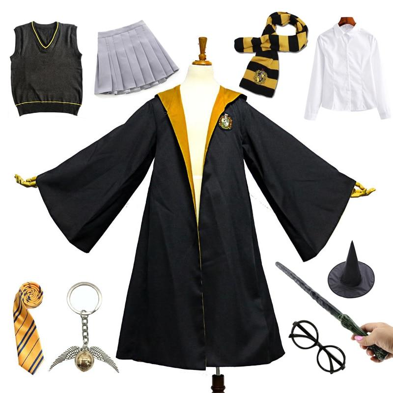Костюм на Хэллоуин для взрослых и детей пуффендуй желтая накидка с платьем свитер рубашка школьная форма Гермиона Грейнджер одежда для вечерние| |   | АлиЭкспресс