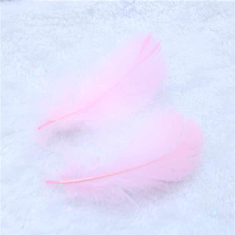 100 шт./пакет натуральный гусиных перьев шлейфы на возраст от 6 до 12 лет см красочные Лебедь перо шлейф для украшения дома, сделай сам, ювелирное изделие украшение