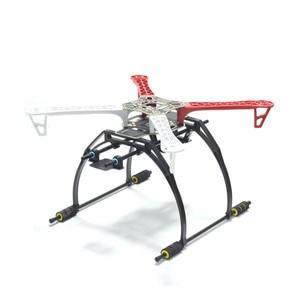 Image 2 - Alta Landing Gear Landing Skid con Giunto Cardanico Piastra Batteria Adattatore per F450 F550 SK550 SK450 FPV RC Quadcopter Hexacopter Telaio