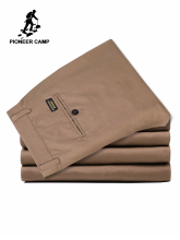 Pioneer Camp Summer Classic Solid Brand-Clothing Fitness Pants Men Casual Pantalon Homme Cotton Pencil Trousers 655110