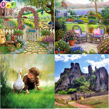 DPF 5D Diy diamond painting round full diamond garden embroidery cross stitch kit mosic home decoration gift image