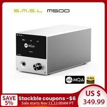 Smsl m500 dac mqa es9038pro es9311 xmos XU 216 32bit 768khz dsd512 hi res decodificador de áudio & amplificador de auscultadores