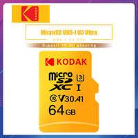 Carte mémoire haute vitesse Kodak 256GB 128GB 64GB U3 32GB carte Micro sd Class10 UHS-1 carte mémoire flash TF/Micro SD