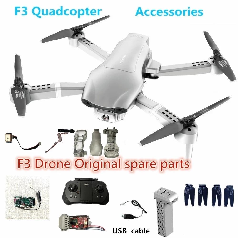 Запасная батарея для дрона 4дрк F3, 7,4 В, 2000 мАч, батарея для полета 23-25 минут, Квадрокоптер 4D-F3, Дроны с USB-кабелем, пропеллер, кленовый лист