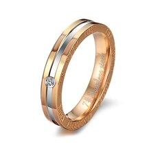 Exquisite rhinestone black gold titanium steel couple ring wedding engagement anniversary ring party anniversary gift ring VR605 цена 2017