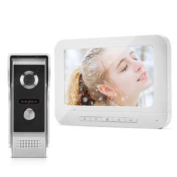 REDEAGLE 7 inch Wired Video Door Phone Speakerphone Intercom System with Infrared Night vision Camera
