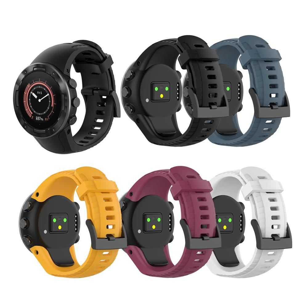 For Suunto 5 Watch Band High Quality Silicone Strap Band Bracelet For Suunto 5 Black Outdoor Sport Smart Watch Watchband For Man