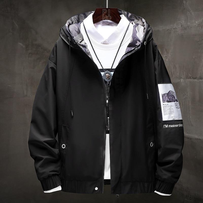 Windbreaker Coats Men Hip Hop Cargo Bomber Jackets Designer Japanese Steetwear Autumn Big Size Harajuku,ZA351