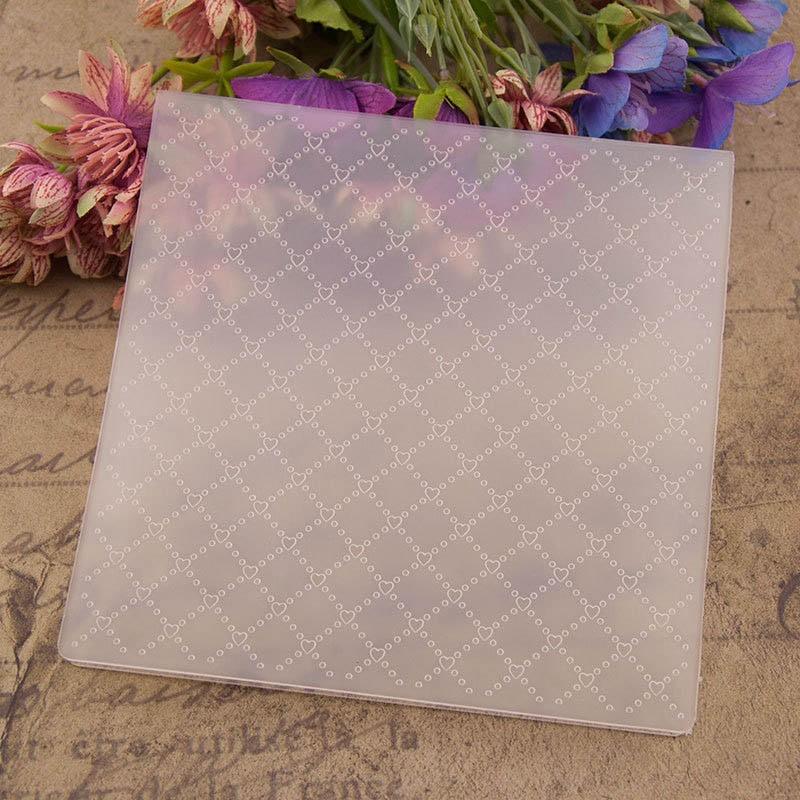 1Pcs Plastic Photo Album Decor Stencil Embossing Folders Transparent Making Paper Card Template DIY Scrapbooking 15*15CM