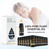 14pcs Pure Essential Oils For Aromatherapy Diffusers Essential Oils Organic Body Relieve Stress Help Sleep Oil Skin Care 10ml