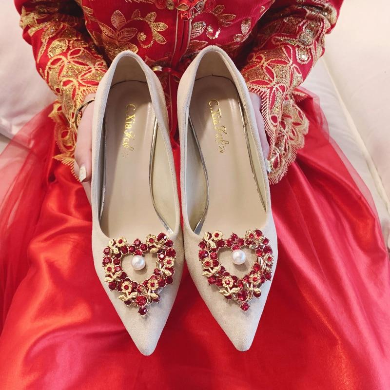 Элегантные модные свадебные туфли на высоком каблуке; Женские туфли на высоком каблуке; Пикантные Свадебные модные женские туфли-лодочки н...