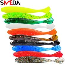 10PCS Soft Bait Shone Silicone Lure Shad Fishing Gear 70mm 95mm Swimbaits Carp Artificial Leurre Souple