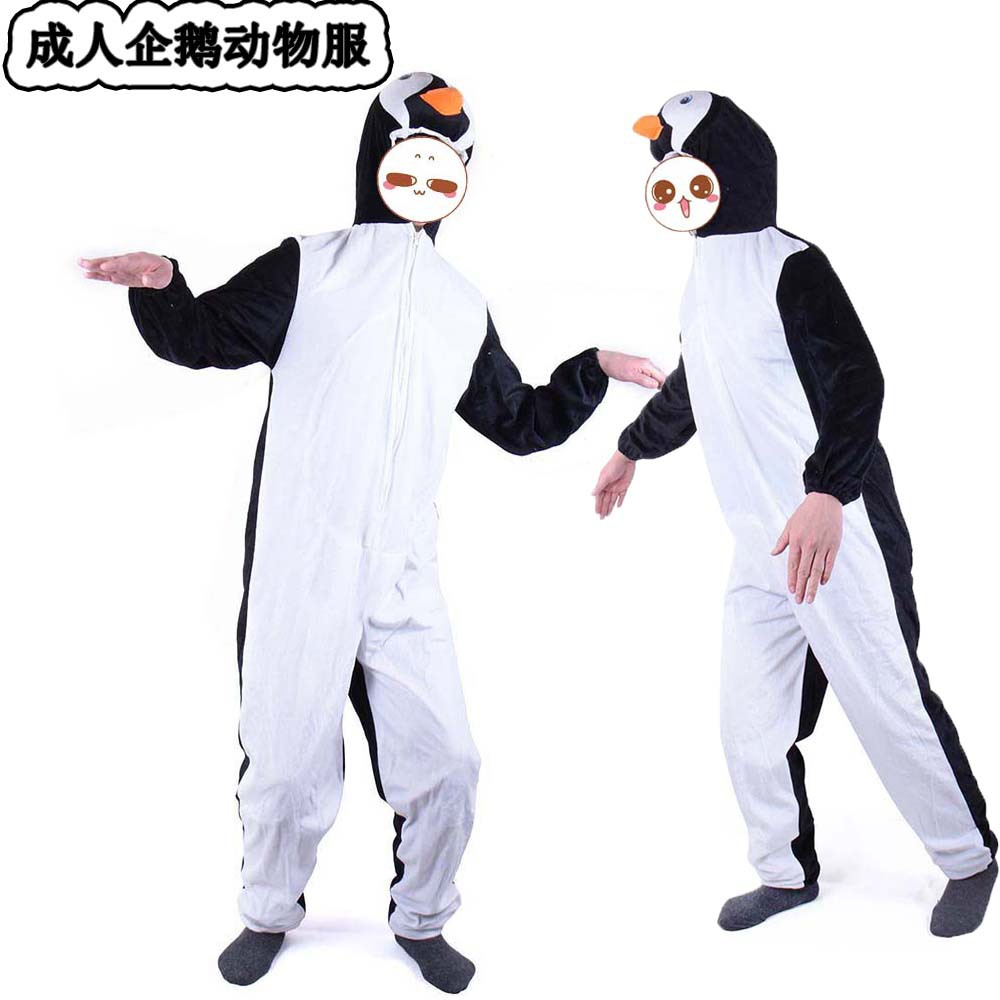 Halloween penguin Costumes Adult men women penguin animal Cosplay clothes Stage Amphibian costumes  Animal penguin coveralls