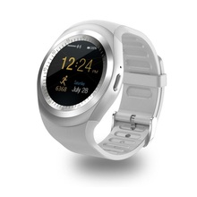 Y1 Smartwatch Bluetooth inteligentny zegarek SIM GSM wsparcie 2G połączenie poprzez Bluetooth otrzymać telefon zwrotny od dla Apple iPhone Xiaomi telefony z androidem PK DZ09 KW18 S tanie tanio abay OLED Wszystko kompatybilny SİLİCA Passometer english Życie Wodoodporna
