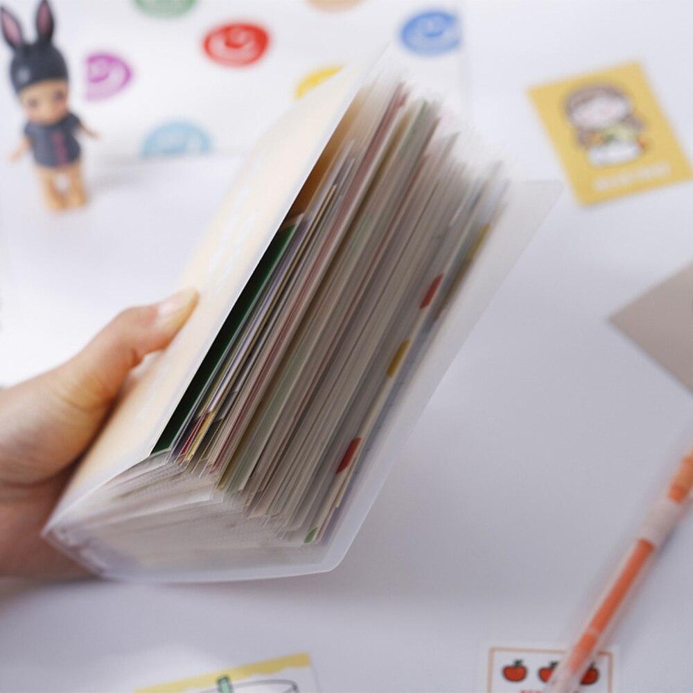 A6 PVC Pouch Transparent Bag Card Bills Bags Loose Leaf Storage Organizer Plastic Card Holder Pockets