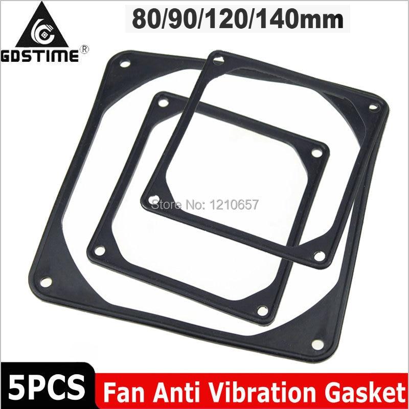 5Pieces LOT PC Computer Case Fan Anti-Vibration Rubber Gasket 120 X 120 Mm 12cm 80mm 90mm 140mm Shock Absorption Pad