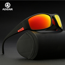 KDEAM Brand Mens Polarized Sunglasses TR90 Rectangle Coating Driving Glasses Sport Goggles Gafas De Sol