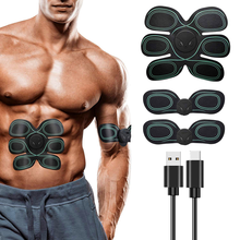 Smart Muscle Stimulator Wireless Fitness Muscle Trainer Abdominal Training Electric Body Abs Trainer Slimming Shaping Massager led electric muscle stimulator ems wireless buttocks hip trainer abdominal abs stimulator fitness body slimming massager