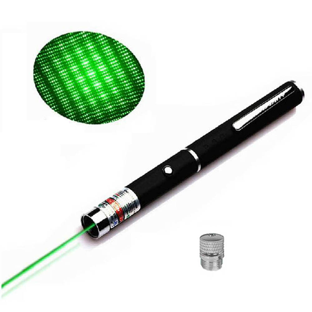 2 In 1 Red Blue Green Laser Pointer With Star Cap  High Power Lazer Sight Light Pen Powerful Laser Meter Tactical Pen