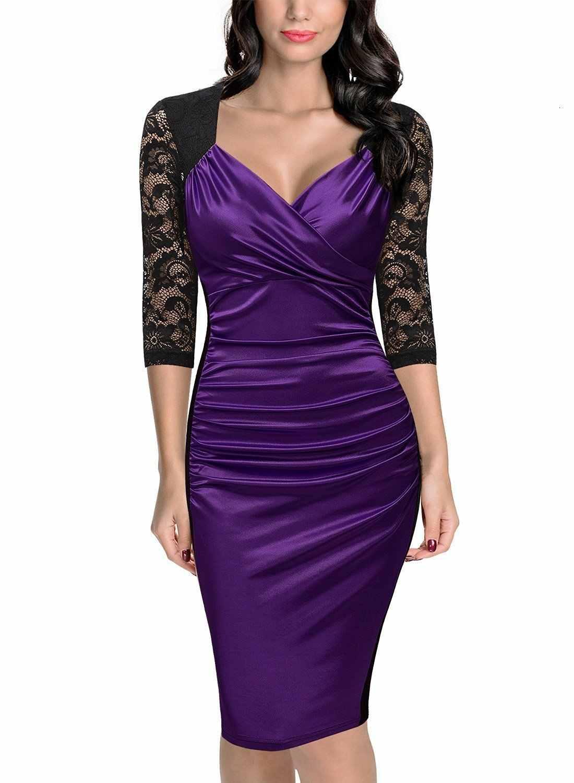 BGW 2020 nuevo vestido Sexy con cuello en V para madre de la novia con cremallera en la espalda manga de tres cuartos vestido de madre para invitados de boda de cuatro colores