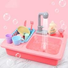 Дошкольные Девочки Мальчики имитация кухня посудомоечная машина ролевые игры игрушки Дети ролевые игры прекрасный детский подарок