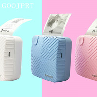 Goojprt p6 Cute Striped Thermal Bluetooth Printer Mobile Phone Pc Palm Sized Photo Picture Printer Support Android Ios