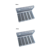 Rectangular Clear Plastic Storage Box Collection Case Protector for 100pcs 27mm/30mm Coin Capsules Holder or 5pcs 27mm Tube