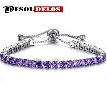 Fashion Woman Charm Bracelet 2019 Luxury sparkling crystal push-pull ladies gold full single row jewelry Bracelets for women