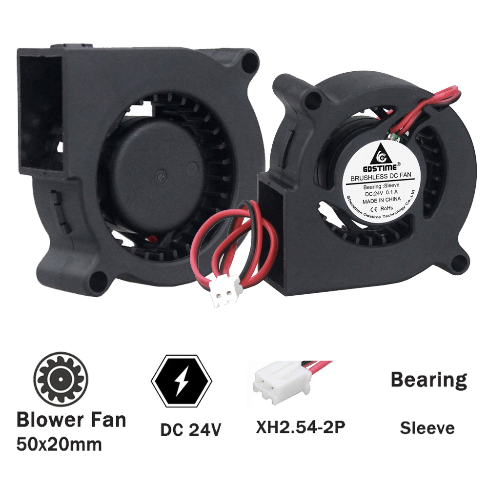 5cm 50mm x 20mm 12V Blower Fan Exhaust Centrifugal Cooling Fan Computer 50x20mm