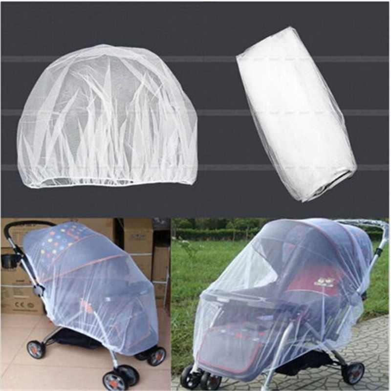 สีขาวทารกเด็กทารกรถเข็นเด็กยุงแมลงสุทธิตาข่ายปลอดภัย Buggy ตาข่ายรถเข็นฝาครอบ Netting150 * 180 ซม.