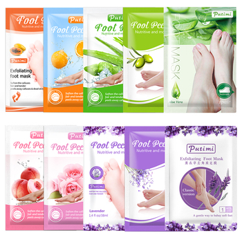 PUTIMI Exfoliating Foot Mask Renewal Feet Mask Socks for Pedicure Socks Remove Dead Skin Heel Peeling Foot Masks Cream Foot Care feet o p i asa02 foot care cream gel masks deodorants