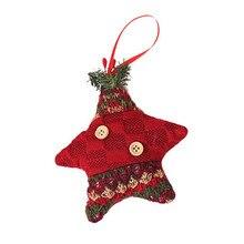 Рождественские украшения подарок Санта Клаус Снеговик игрушка-кукла в виде оленя повесить украшения Рождественские украшения# AA