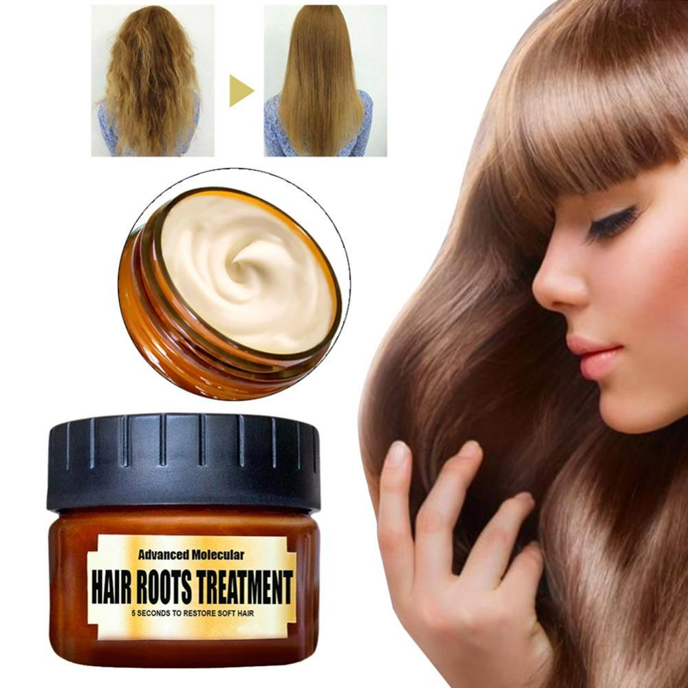 60ml Hair Treatment Mask Advanced Molecular Hair Roots Treatment Return Bouncy Restore Healthy Soft Hair Care Essence